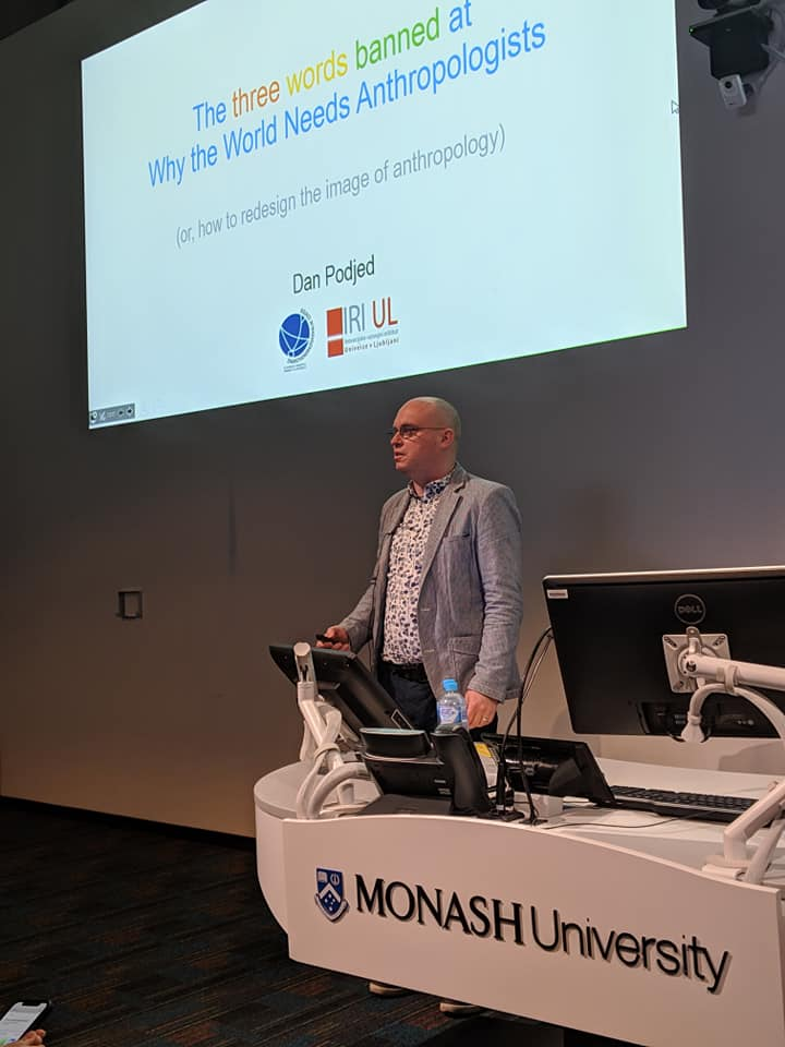 Dan Podjed, Monash University, event, DIgital Design Ethnography, EMerging Technologies Lab